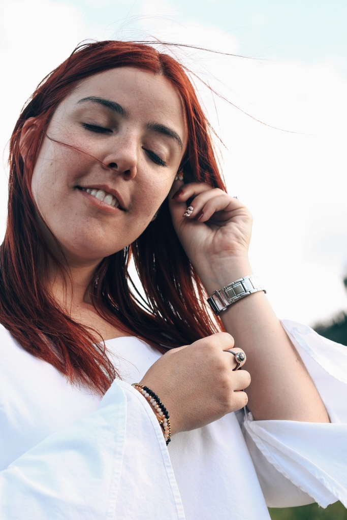 Ranch Red Hair Green Sky Sunny Look