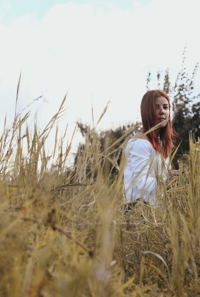 Ranch Red Hair Green Field Sunny Look