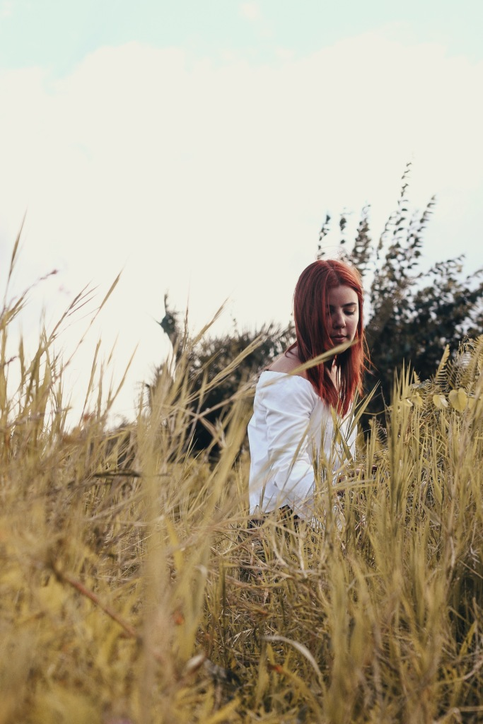 Ranch Red Hair Green Field Sunny Portrait
